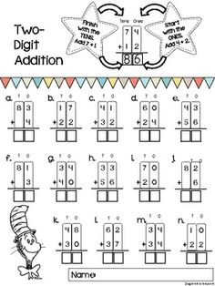 math worksheet : two digit addition worksheets with and without regrouping  : Double Digit Addition Worksheets With Regrouping