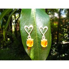 Sterling Silver Sweetheart Earring with Fire by GoldiesNaturalGems ($160) via Polyvore