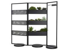 plant & book shelves