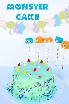 #Monster themed cake. Perfect for a birthday party or a Monsters University movie themed party. #ScareEdu #shop