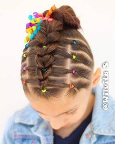 Easy Toddler Hairstyles, Girls Natural Hairstyles, Cute Girls Hairstyles, Kids Braided Hairstyles, Pretty Hairstyles, Natural Hair Styles, Khloe Hair, Wacky Hair, Girl Hair Dos