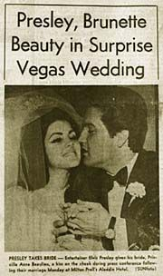 ELVIS PRESLEY and Priscilla's wedding