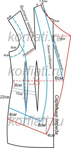 Как сшить жилет - выкройка полочки Easy Sewing Patterns, Coat Patterns, Clothing Patterns, Dress Patterns, Collar Pattern, Jacket Pattern, Pattern Cutting, Pattern Making, Sewing Studio