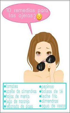 CONSEJOS PARA CHICAS : 10 REMEDIOS EFICACES PARA LAS OJERAS Beauty Care, Diy Beauty, Beauty Hacks, Face Care, Body Care, Facial Tips, Skincare Blog, Soy Products, Oily Skin Care