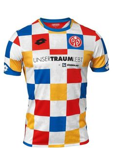 Mainz 05 revealed their Carnival 2019 football shirt by Lotto. The four-colored checkered jersey is inspired by an unforgotten cult jersey from the Soccer Kits, Football Kits, Football Jerseys, Sport Shirt Design, Sport T Shirt, Sport Wear, Dragon Sports, Jersey Atletico Madrid, Outfit