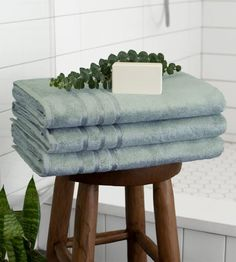 Cariloha towels are so soft and comfy to use. Did you already try luxury softness with our Bamboo Bath Towel - Onyx for an affordable price? Grey Bath Towels, Blue Towels, Soft Towels, Hand Towels, Handmade Home, Grey Baths, Stone Bath, Bathroom Hacks, Bathroom Ideas