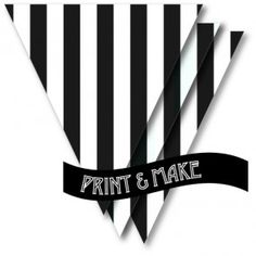 Free...Printable Black & White Stripe Bunting by Style My Party www.stylemyparty.co.uk