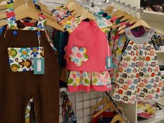 These cute children's clothes were designed and made by Amy Neil of Coco Crafts.  Amy has since moved to start a surface design career, and our community are so supportive and encouraging of her new work.  http://www.cococrafts.co.uk/