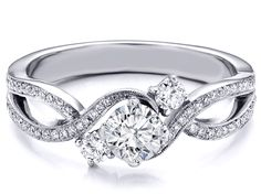 INFINITY ring!!! (Past - Present - Future) :0)   [Three Stone Infinity Diamond Engagement  Ring 0.68 TCW in 14K White Gold]