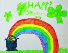 St. Patrick's Day rainbow scavenger hunt to keep the kids happily occupied! Includes four different rainbow scavenger hunt ideas.