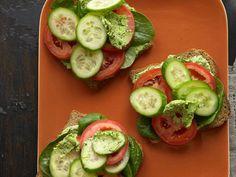 Veggie Sandwich With Edamame Hummus