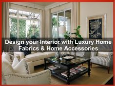 Decorate your Living room and Bedroom with Luxury Home Fabrics & Home Accessories for Pillow, Curtain and Upholstery. Designer home fabrics from online fabric store with Different types of products like Velvet Fabrics, burlap Fabrics, Linen fabrics etc..  #onlinefabricstore #Velvetfabrics #upholsteryfabrics