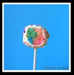 Crafting in the Rain: Rainbow Cake Pops...and Happy St. Patrick's Day!