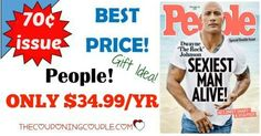 BEST DEAL AROUND! Grab People Magazine for only $34.99/year! That is only $0.70 per issue! What a great gift idea too!  Click the link below to get all of the details ► http://www.thecouponingcouple.com/people-magazine-only-54-99year-reg-399-00/ #Coupons #Couponing #CouponCommunity  Visit us at http://www.thecouponingcouple.com for more great posts!