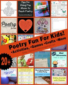 It's National Poetry Month! Try some of these fun poetry games, crafts, and activities with your kids! [via homeschoolencouragement.com]