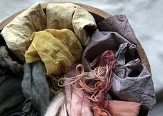 Lovely natural dye colours, by lil fish studios