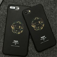 Bape supreme Aape Phone cover For iPhone 7 case 6 6s 7Plus Shark Army Pattern Painted Hard Phone