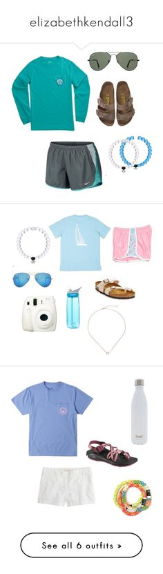 """""""elizabethkendall3"""" by secfashion13 ❤ liked on Polyvore featuring NIKE, Southern Tide, Birkenstock, Everest, Ray-Ban, sydneyscampcontest16, CO, Fujifilm, CamelBak and Kendra Scott"""