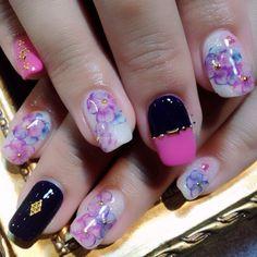 春にピッタリの水彩画ネイル❤ #nails #nailart #girly  (RUSCIA)