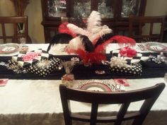 Bunco Party Table Decor