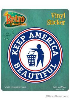 image of Keep America Beautiful Vinyl Sticker