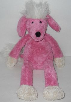 "Pottery Barn Kids Dog Pink Poodle Plush Stuffed 13"" PBK Dangle Legs Beanbag Toy #PotteryBarnKids"