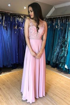 Long Prom Dresses With Applique and Beading Graduation Dress School Dance Winter Formal Dress Prom Dresses Long Pink, Winter Formal Dresses, Bridesmaid Dresses, Wedding Dresses, Dress Formal, Homecoming Dresses, Girls Dresses, I Dress, Dress For You