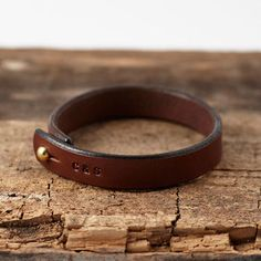 Personalised Stamped Leather Bracelet - for your other half - jewelry mens rings, mens online jewelry stores, mens wedding jewelry Leather Stamps, Leather Gifts, Leather Craft, Diy Leather Bracelet, Leather Jewelry, Metal Jewelry, Bracelets For Men, Braided Bracelets, Leather Accessories