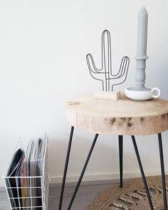 #kwantuminhuis Bijzettafel CALAIS > https://www.kwantum.nl/meubelen/tafels en decoratie CACTUS > https://www.kwantum.nl/wonen/woondecoratie @