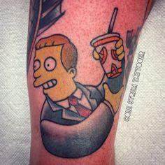 Simpsons Tattoo, Comic Tattoo, Culture, Tattoos, Tatuajes, Tattoo, Tattos, Comic Book Tattoo, Tattoo Designs
