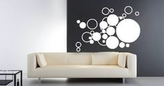 Bubble Cloud stick up is an abstract design of dots and circles. It will bring life to your interior.   Visit this link for more designs: https://limelight-vinyl.myshopify.com/