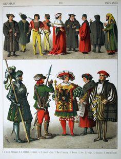 1500-1550s German costumes