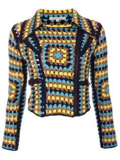 CHRISTOPHER KANE crochet biker jacket