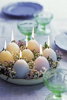 DIY These Natural Easter Centerpieces
