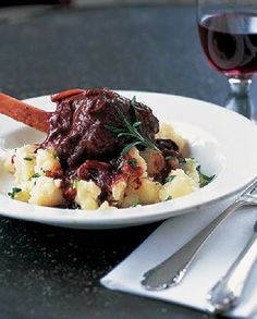 Low FODMAP Recipe and Gluten Free Recipe - Braised Lamb Shanks With Root Vegetables