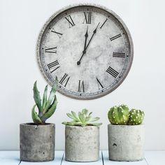 null Gaston Gray Wall Clock