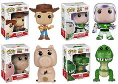 Preorder Toy Story 20th Anniversary Pop! Vinyl Figure Collection: Buzz Lightyear, Woody, Rex, Hamm