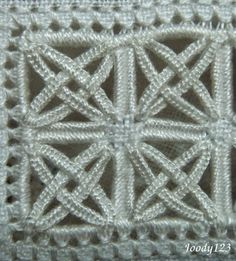 Reticello filling ~ by Joody 123 Whitework Embroidery. I should try this on a hardanger piece.