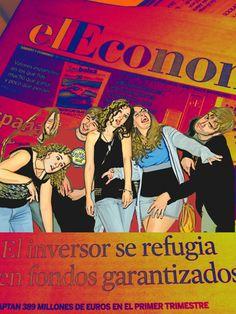 Titulo:economist.pintura digital.Autora:Montse gutierrez