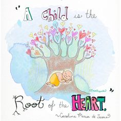 Buddha doodle ❤ A child is the root of the heart