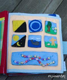Quietbook-Seite zur Schöpfung Quiet Book Templates, Quiet Book Patterns, Busy Book, Quiet Books, Free Pattern, Religion, Crafts, Kids Bible, Sew Toys