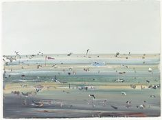 (Light aeroplane, Tibooburra)  (1967); Fred Williams Australian Painting, Australian Artists, Fred Williams, Beach, Water, Outdoor, Image, Inspire, Paintings