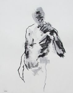 """Semi-Abstract Figure Drawing - 11 x 14"""", fine art - Drawing 171 - pastel on paper - original drawing"""