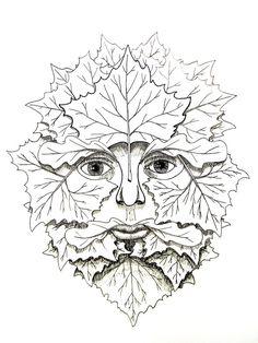 "iColor ""Green Man Faces"""