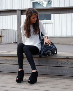 such a cute outfit from her hair to her adorable shoes!