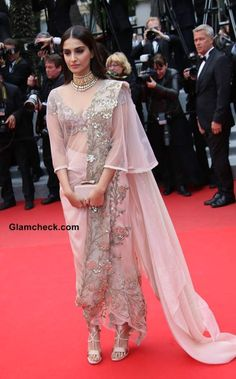 Sonam Kapoor at Cannes 2014 in Anamika Khanna Outfit