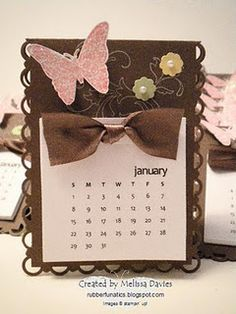 It has become a bit of a tradition these last few years to make little desk-top calendars for the members of my Sta. Diy Projects To Try, Craft Projects, Post It Holder, Little Presents, Paper Crafts, Diy Crafts, Craft Show Ideas, Scrapbook Paper, Scrapbooking