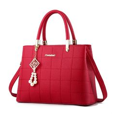 The New Fashion Simple Bead Handbag Shoulder Bag Large Satchel