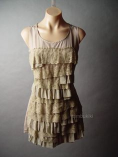 This would be perfect as a tank dress, the ruffles would make it more flattering and add mass.
