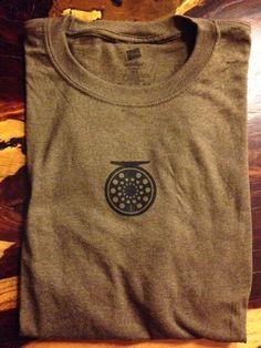 c1e9de9b18 Fly Fishing Reel T-Shirt by InkSimple on Etsy https   www.